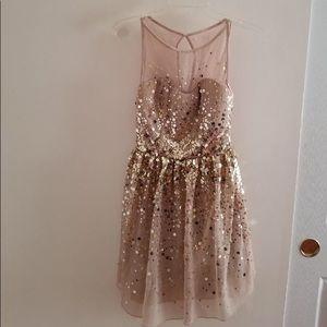 Delia's Gold Sequin Dress
